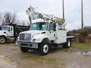 Used International 7400 Medium Duty Bucket Truck/Boom Truck For Sale